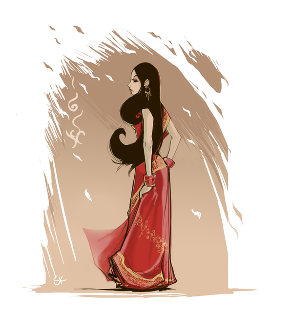 Anime In India: Sari By Tsenzen On DeviantArt