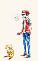 WTF Pikachu by Ark-san