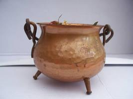 copper cauldron 2 by AzurylipfesStock