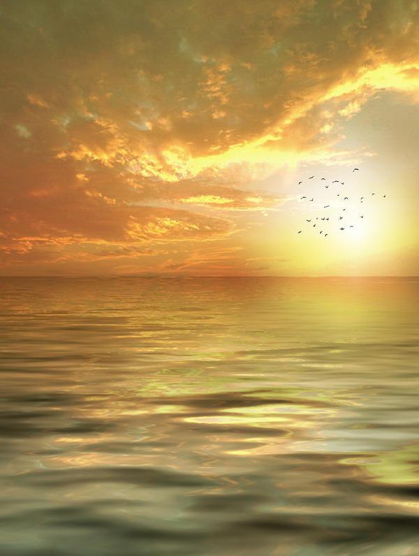 Background-evening sea by AzurylipfesStock