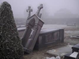 graveyard winter 6 by AzurylipfesStock
