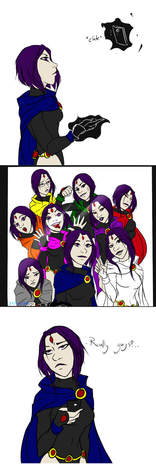 Why Raven hates selfies by MegS-ILS