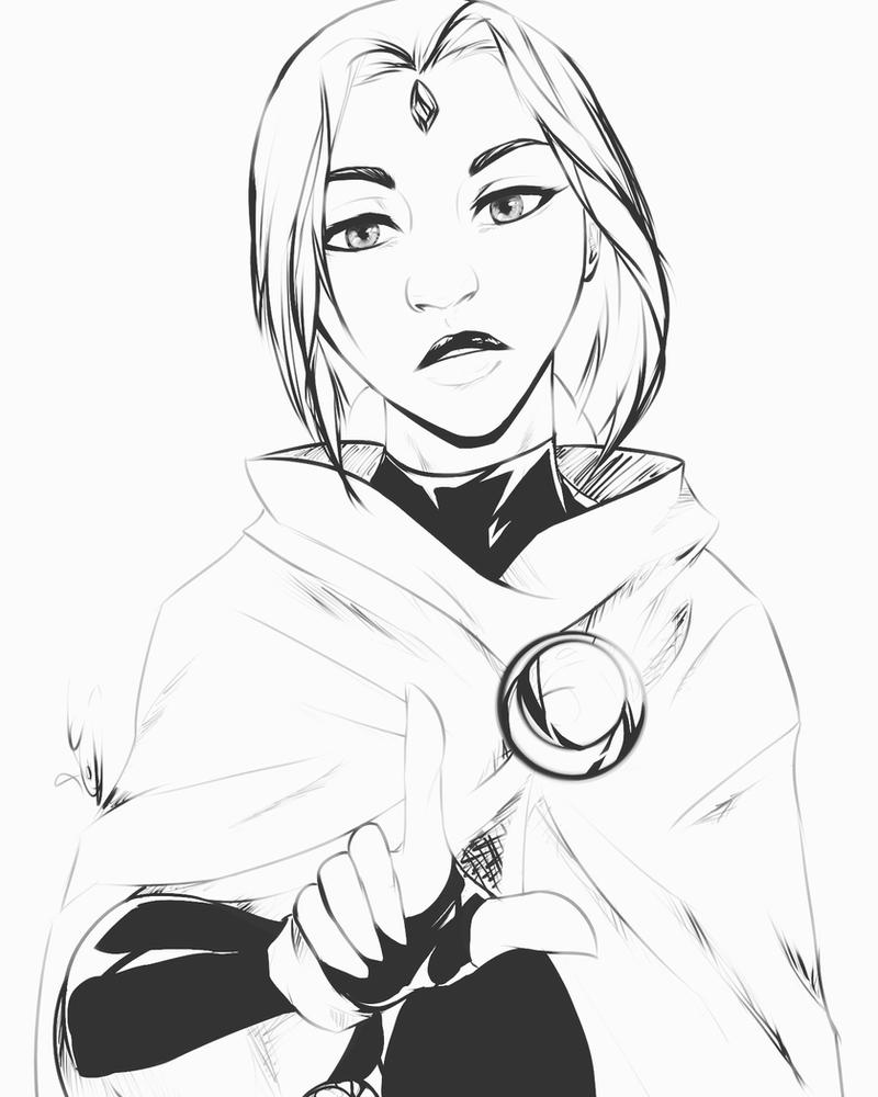 Raven ink by MegS-ILS
