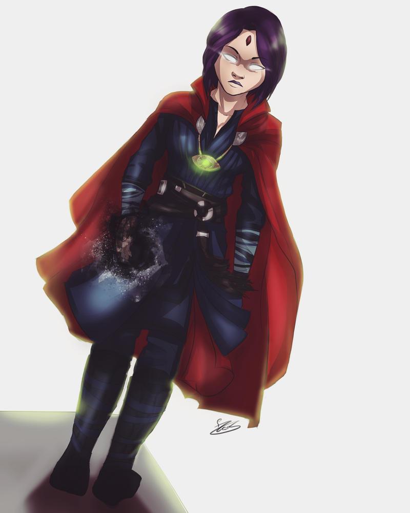 Raven/Dr Strange Commission by MegS-ILS
