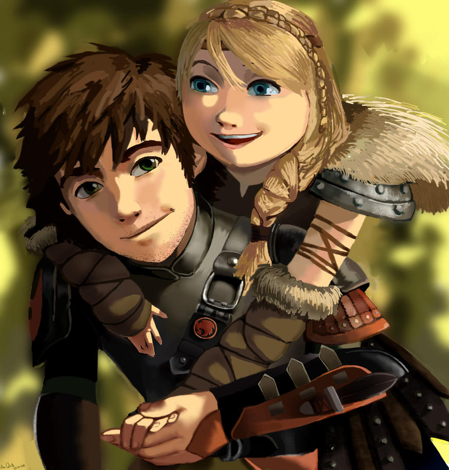 Hiccup and Astrid by Celtilia