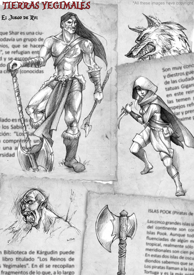 Tierras Yegimales: El juego de Rol. by Celtilia