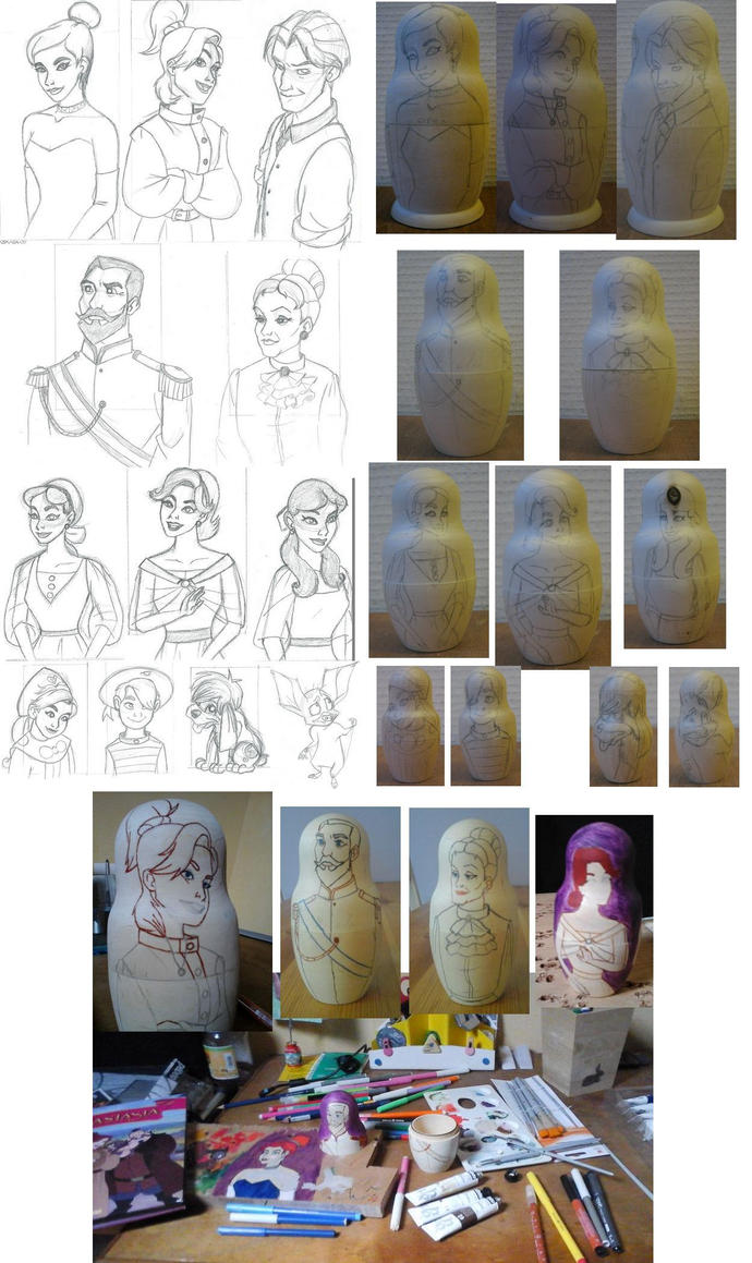 Anastasia big project WIP by anya1916
