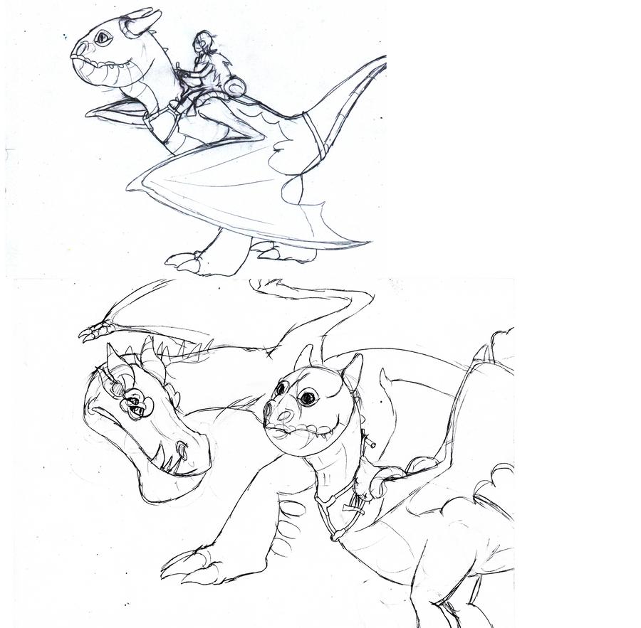 Kari and Rorshak doodles by BlackTailwolf