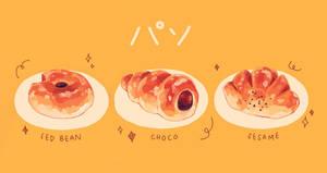 honey glazed bread by reikureii
