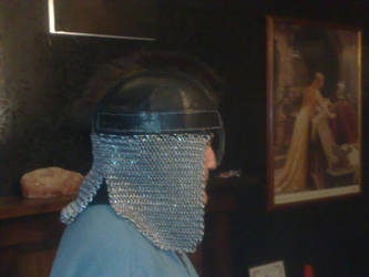leather and chain helm