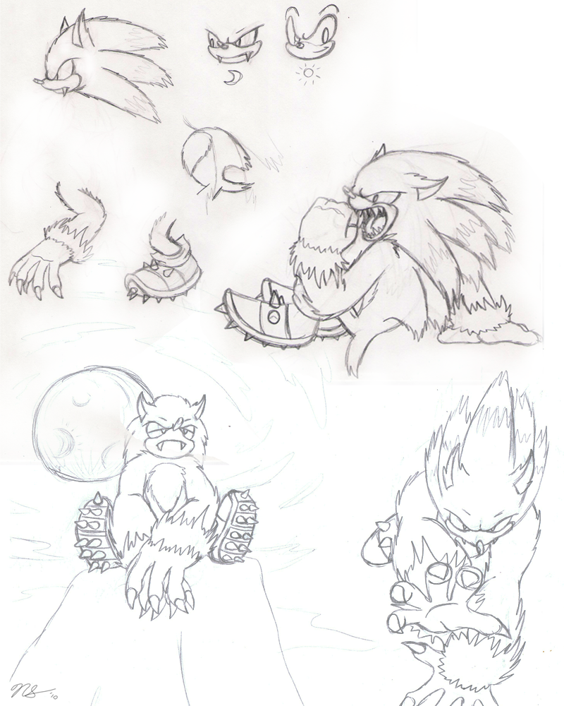 Werehog Doodles -WIP- by Ulta