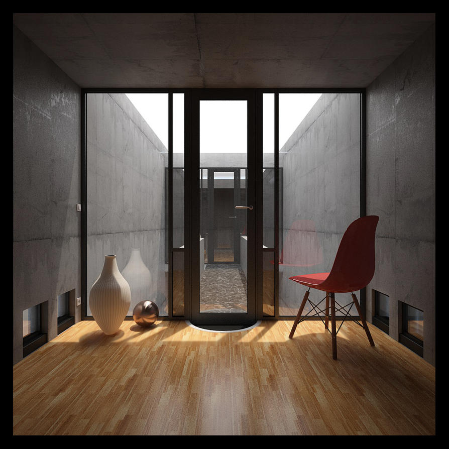 Azuma house tadao ando by torque89 on deviantart for Row house dimensions