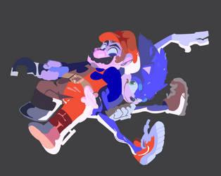 MOVIE ADAPTATIONS   Sonic + Mario by PenBee