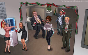 Office Party Mistletoe by DovSherman