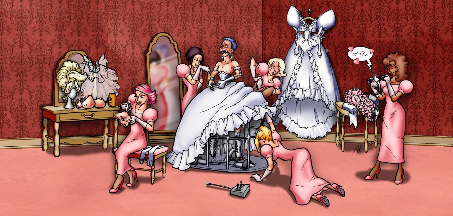 Forced Feminization Art Drawings