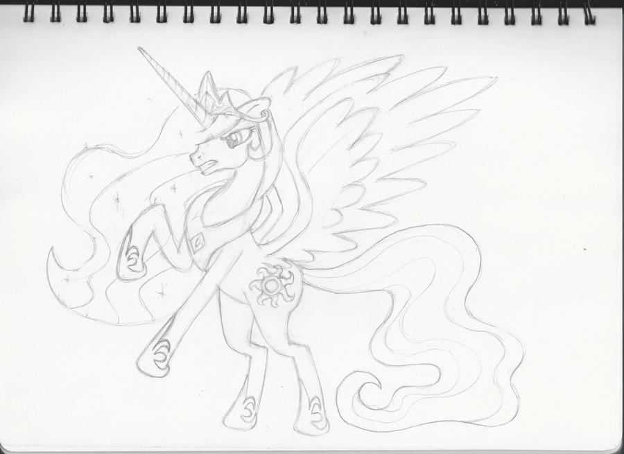 Angry Princess Celestia Angry Princess Celestia Sketch