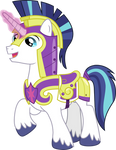 Shining Armor with Horn Glow