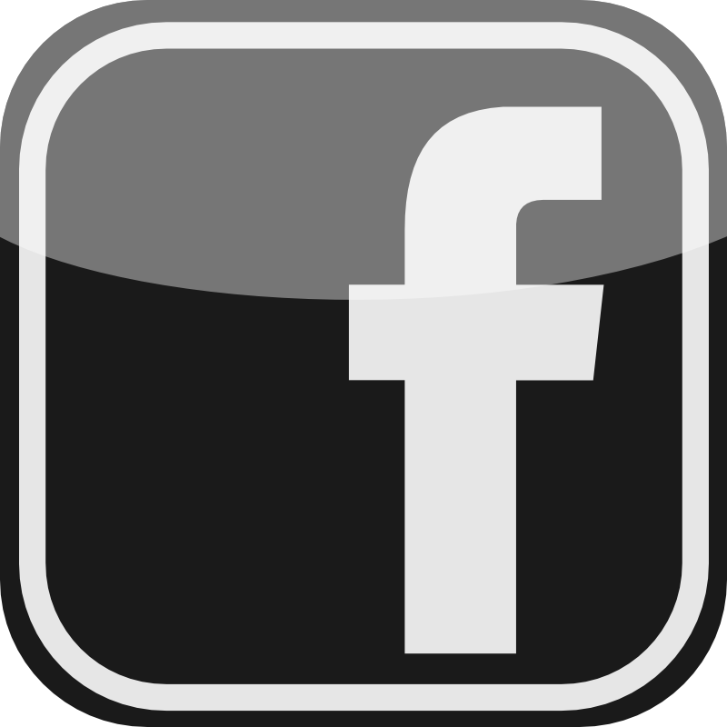 Facebook icon png black