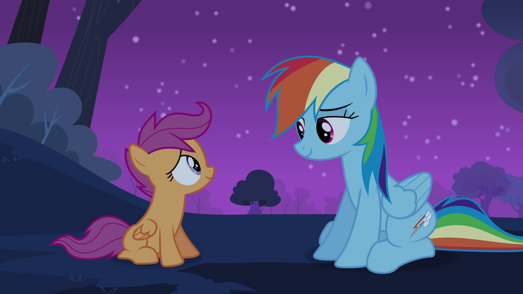Dash comforts Scoot by Fukaketsu
