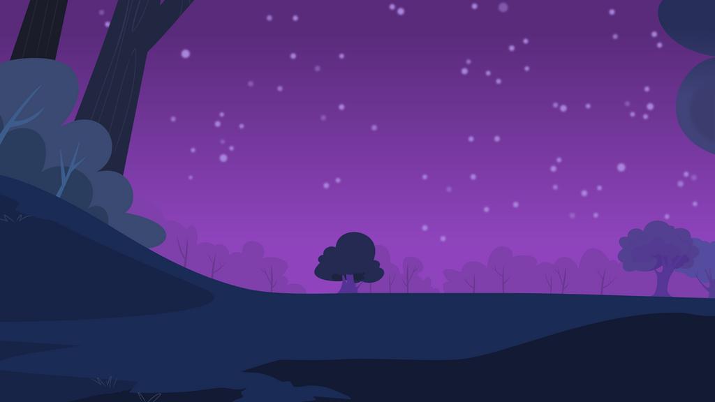 Forest At Night By Zanderals On Deviantart