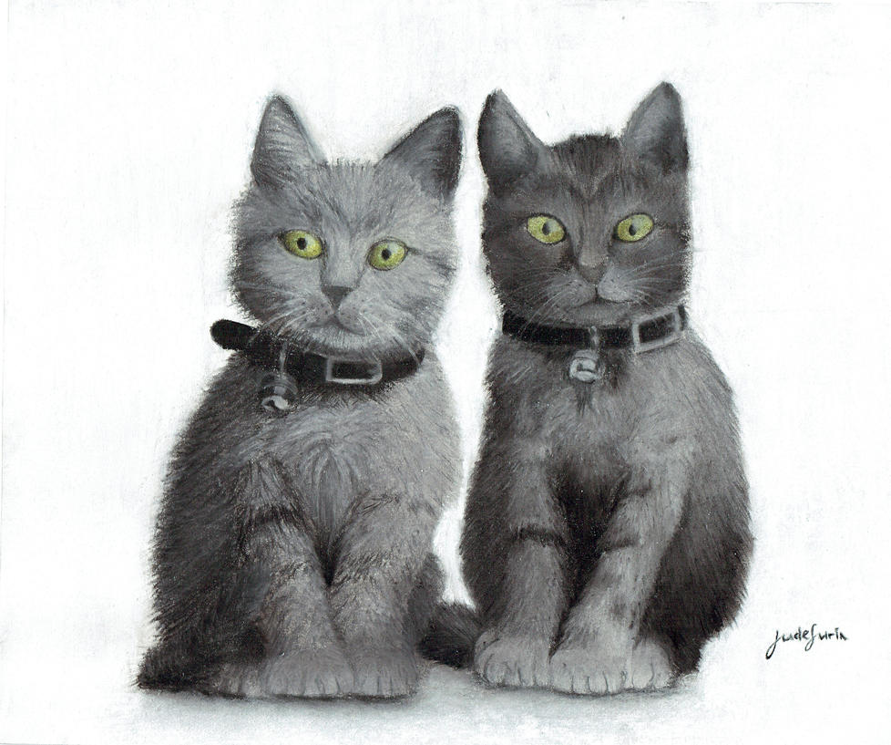 Kittens in pastels by ZanderalS