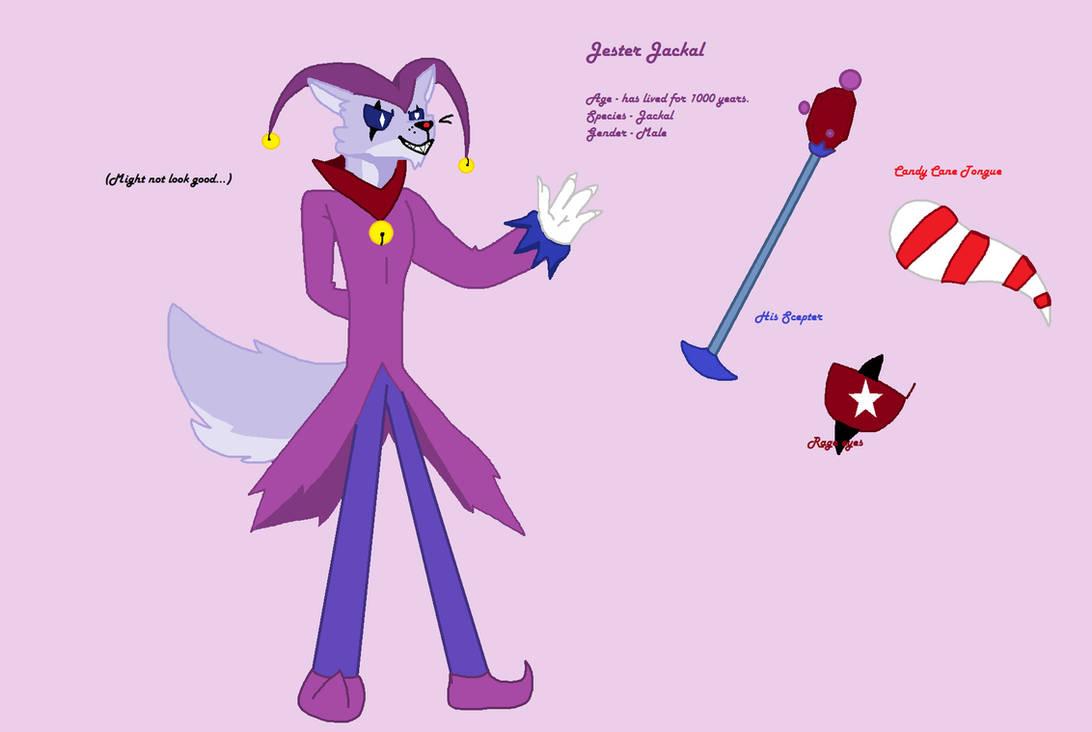 Jester Jackal (ref sheet) by DemonBass