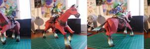 The Legend of Zelda Papercraft ~Link and Epona ~