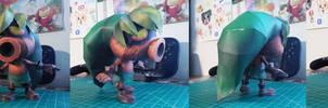 The Legend of Zelda Papercraft ~ Deku Link ~