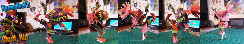 The Legend of Zelda Papercraft ~ Skull Kid ~ by SuperRetroBro