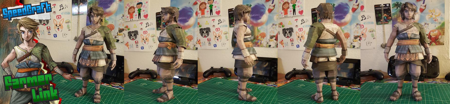 The Legend of Zelda Papercraft ~ Farmer Link ~ by SuperRetroBro