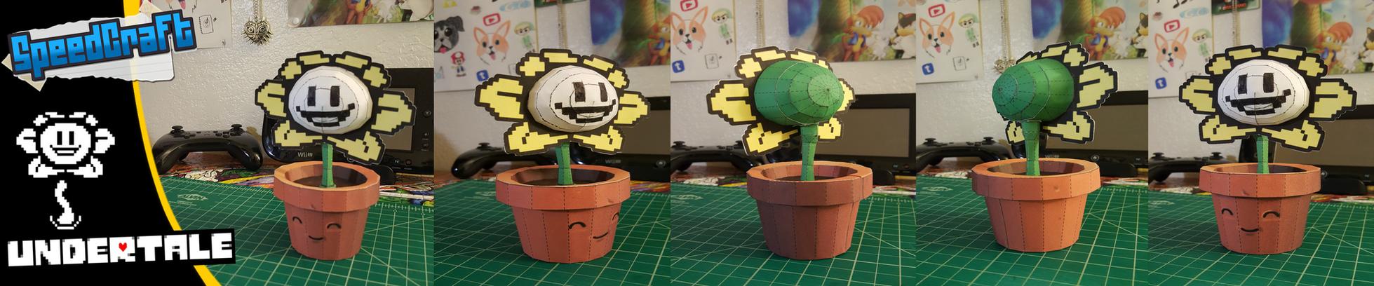Undertale Papercraft ~ Flowey the Flower~ by SuperRetroBro