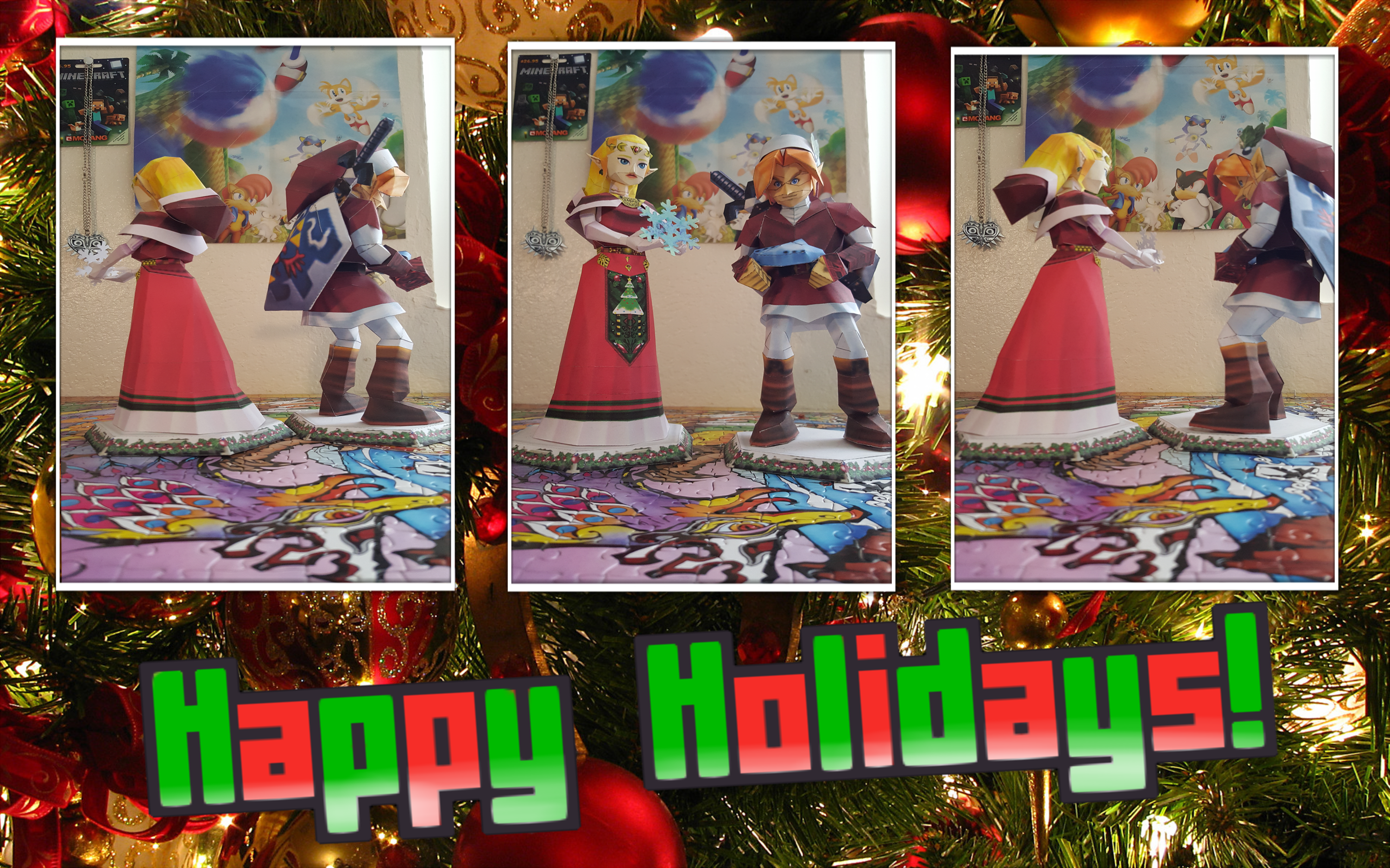 the legend of zelda papercraft holiday special by superretrobro