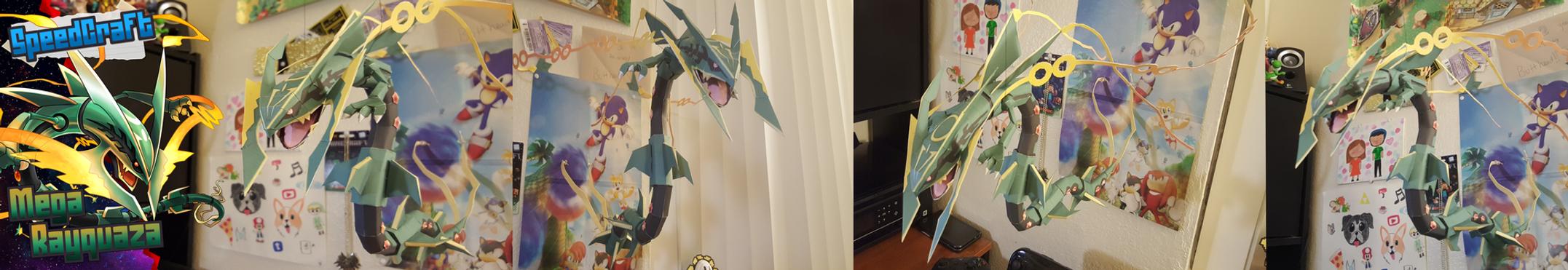 Pokemon Papercraft ~ Mega Rayquaza~ by SuperRetroBro