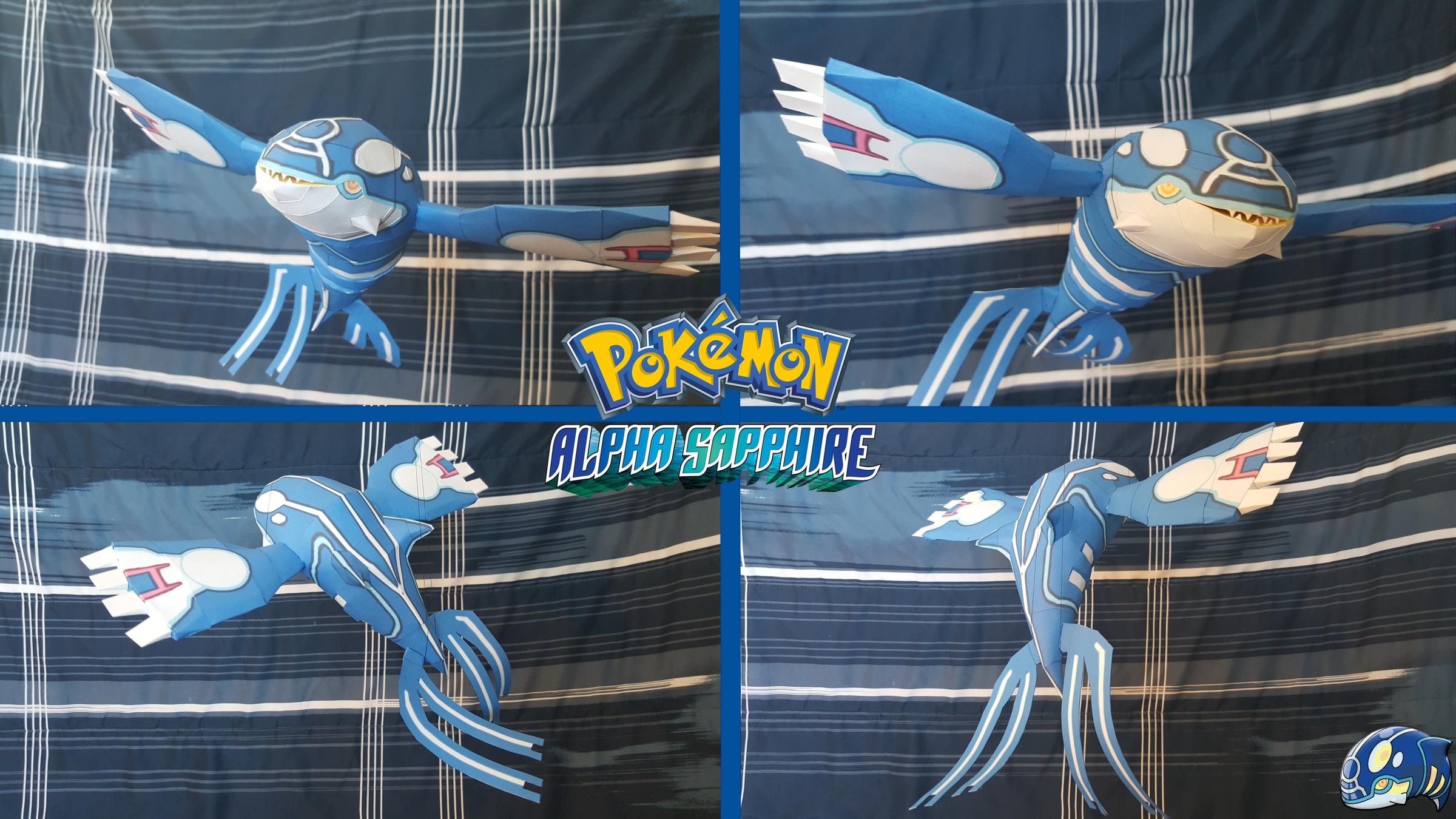 Primal Kyogre pokemon papercraft ~ primal kyogre~superretrobro on deviantart