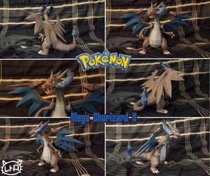 Pokemon Papercraft ~ Mega Charizard X ~ by SuperRetroBro