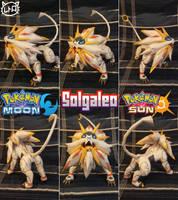 Pokemon Sun and Moon Papercraft ~ Solgaleo ~ by SuperRetroBro