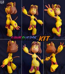 RubberNinja Gameoverse ~ Kit the Cat ~ by SuperRetroBro