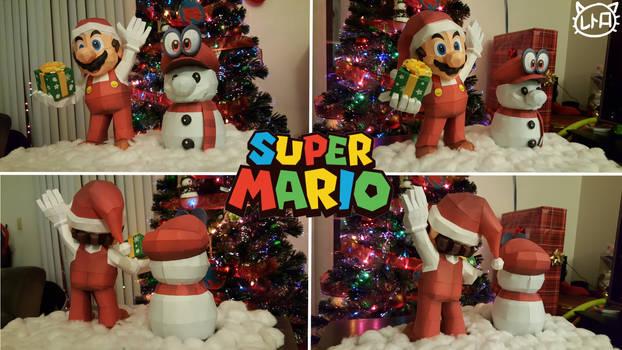 Super Mario Holiday Papercraft Special 2017