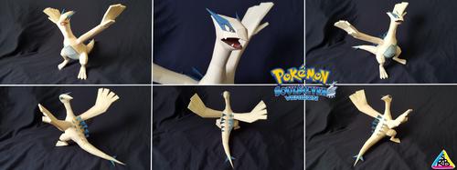 Pokemon Sliver Papercraft: Lugia by SuperRetroBro