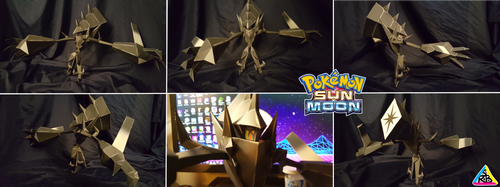 Pokemon Sun and Moon Papercraft: Necrozma by SuperRetroBro