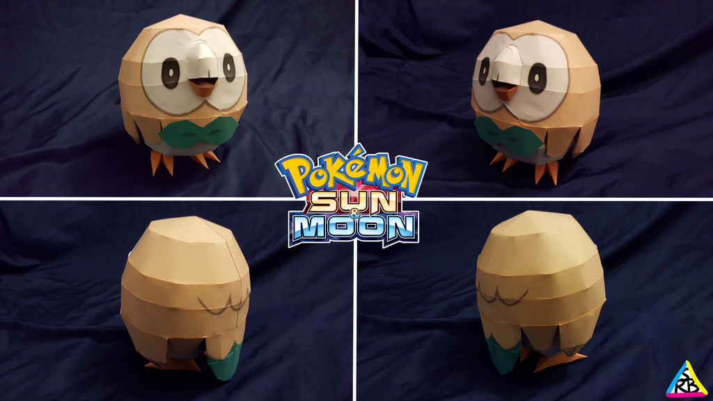Pokemon Sun and Moon Papercraft: Rowlet V2 by SuperRetroBro