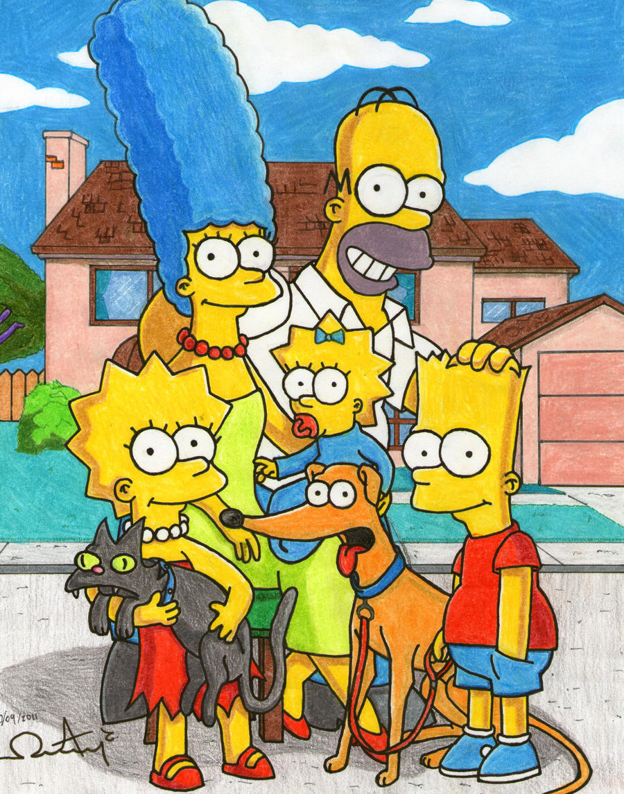 The Simpsons Family by alan181818