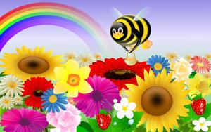 Tux with flowers -1280x800 by juhele