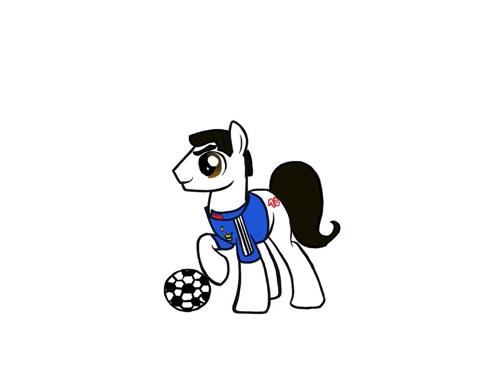 My little Zinedine Zidane Pony by Tchoucky
