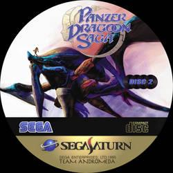 CD label Panzer Dragoon Saga disc 2 by Anarkhya