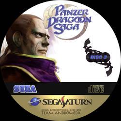 CD label Panzer dragoon saga disc 3 by Anarkhya