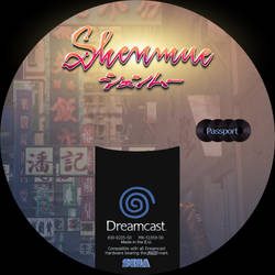 GD label dreamcast shenmue GD4 passport