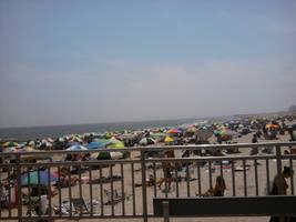 People on the Beach by DarkWaltzFairy