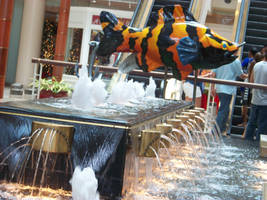 Fish Fountain in the Mall by DarkWaltzFairy
