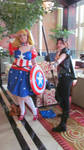 Fem Captain America and Fem Hawkeye @ Zenkaicon